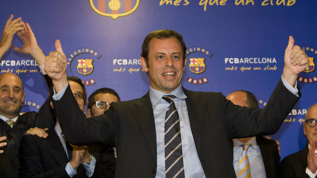 2010. Sandro Rosell becomes new president of the Club