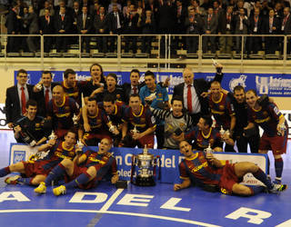 The Barça Alusport team that won the treble in 2011