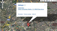 Mapa para llegar al Camp Nou