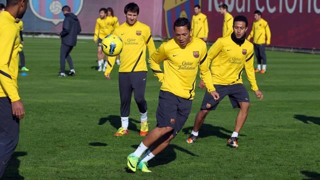 Adriano, a l'entrenament d'aquest divendres / FOTO: MIGUEL RUIZ - FCB