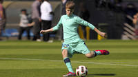 Bieber wearing FCB's away kit