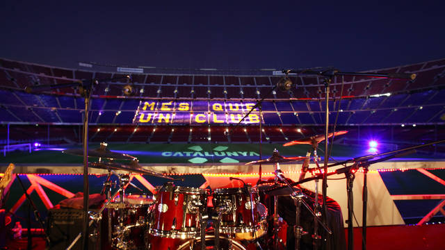 Party at Camp Nou Terrace.