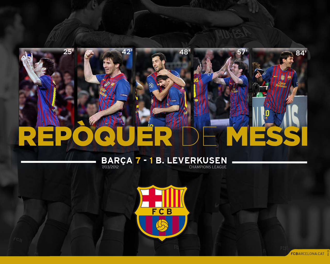 Download The Wallpaper Of Messis Five Goal Performance
