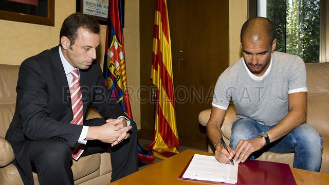 La renovació de Guardiola. Juliol 2010