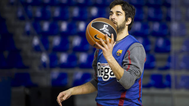 Navarro durring training / PHOTO: ARXIU FCB