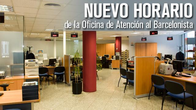 La oab modifica el horario de atenci n al socio a partir for Horario oficina ing barcelona