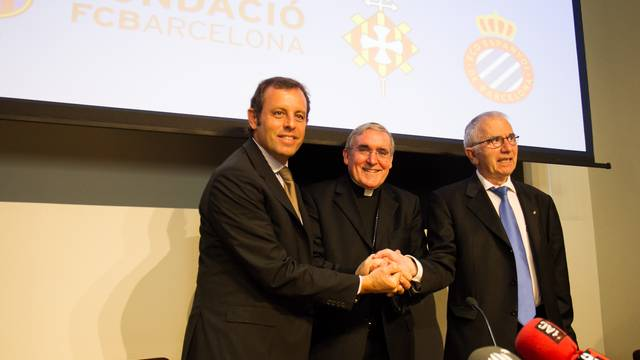 Sandro Rosell, Llus Martnez Sistach i Ramon Condal / FOTO: GERMN PARGA - FCB