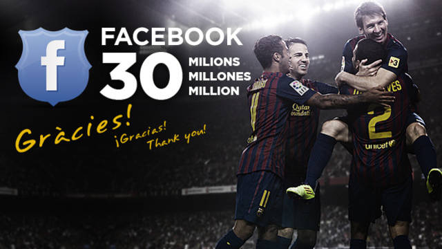 Image of the players and the text facebook 30 million, thankyou!
