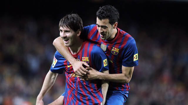 Messi and Busquets / FOTO: MIGUEL RUIZ-FCB