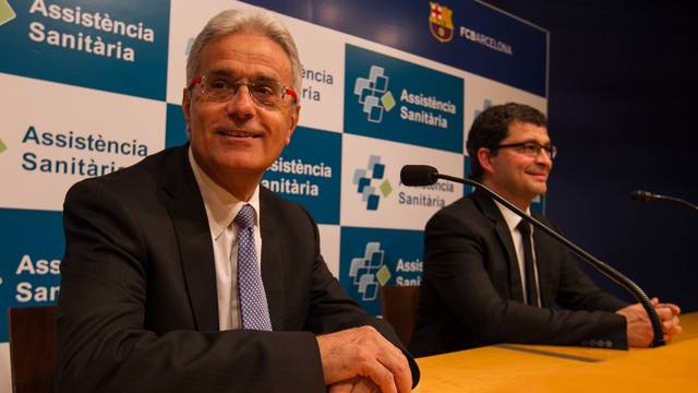 Doctors Cugat and Pruna during the press conference / PHOTO: GERMAN PARGA - FCB