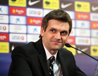 Tito Vilanova, durant la roda de premsa de presentaci / FOTO: MIGUEL RUIZ - FCB
