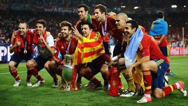 Eight Barça players are European champions / PHOTO: UEFA.COM