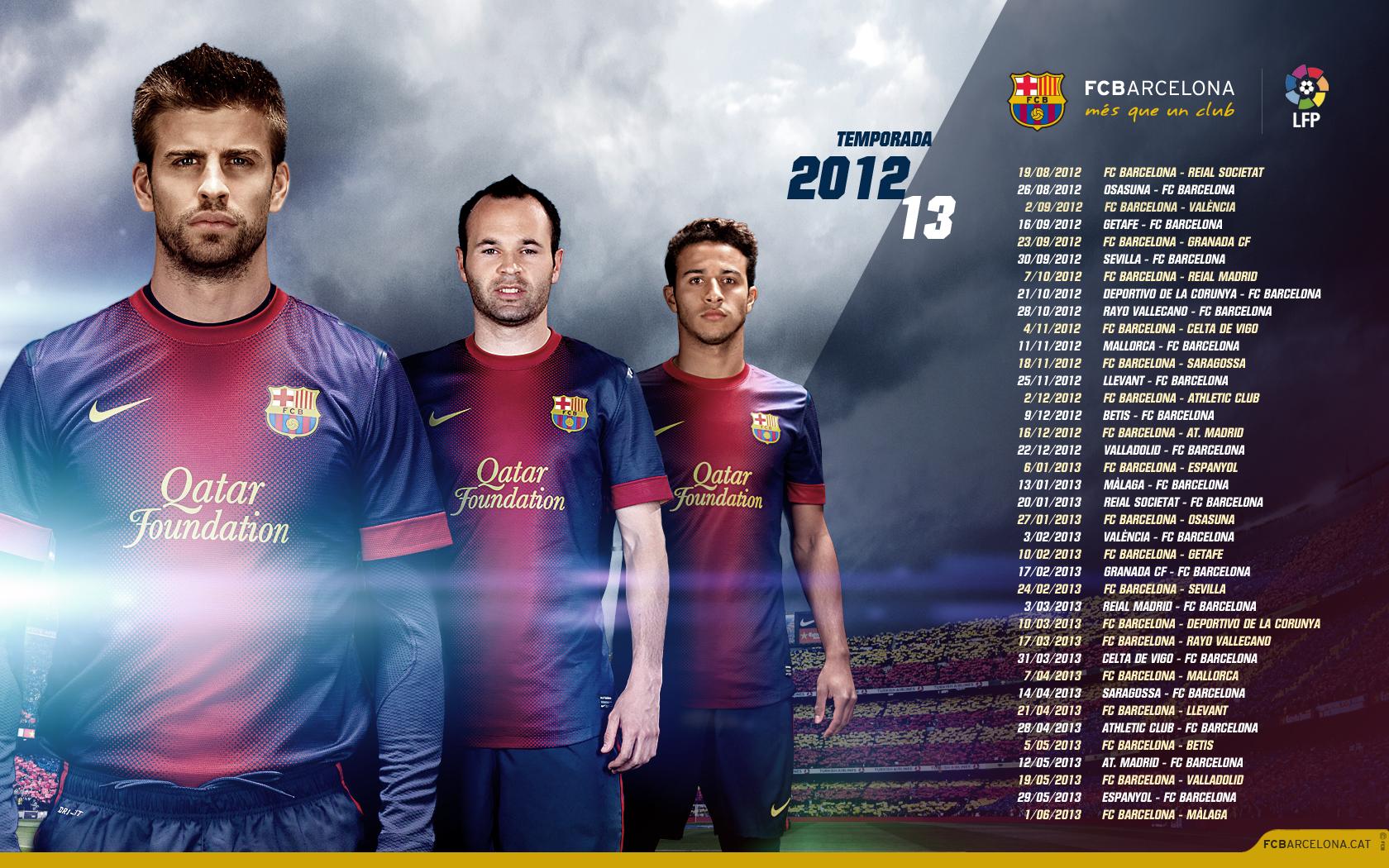 Barcelona Calendar Wallpaper : خلفيات شاشة خاصة fc barcelona