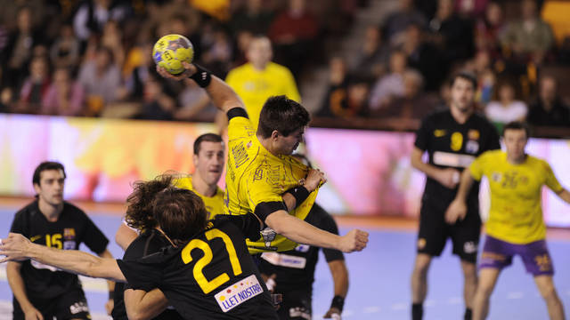 Gurbindo in the Asobal Cup against FC Barcelona Intersport/PHOTO:ASOBAL