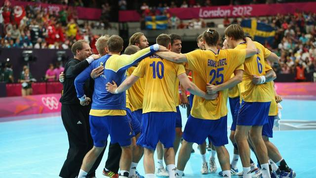 Sweden celebrate after semi-final victory / PHOTO: www.london2012.com