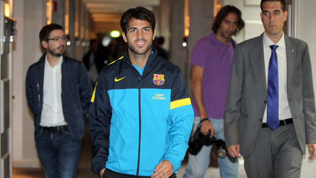 Cesc Fàbregas just before the press conference in Gothenburg / PHOTO: MIGUEL RUIZ - FCB