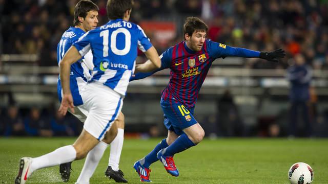 Leo Messi agaisnt Real Sociedad / PHOTO: FCB