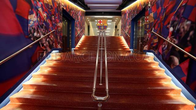 Camp Nou unveils remodeled dressing room tunnel  / PHOTO: MIGUEL RUIZ - FCB