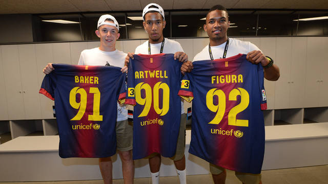 The players with their FC Barcelona kits / PHOTO: nikeinc.com