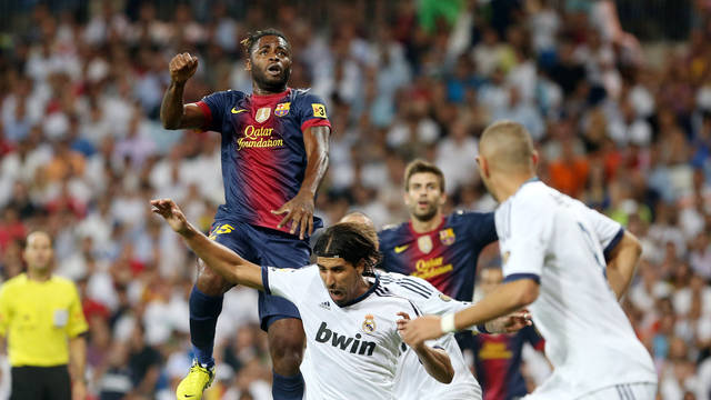 Alex Song at the Bernabu / PHOTO: MIGUEL RUIZ - FCB