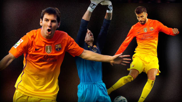 Messi, Valdés and Piqué