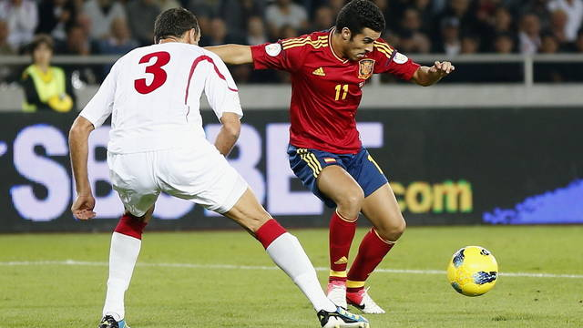 Pedro, against Georgia / FOTO: CARMELO RUBIO