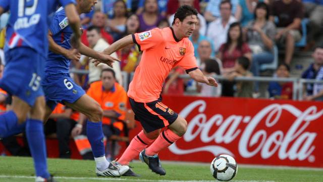 Messi in the 2009/10 season at the Coliseum / PHOTO: ARXIU FCB