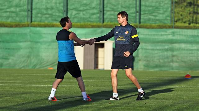 Leo Messi and Tito Vilanova / PHOTO: ARXIU FCB