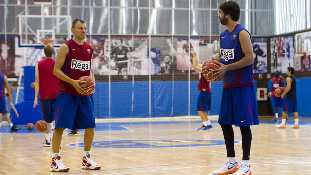 Navarro and Jasikevicius will miss the Super Cup / PHOTO: MIGUEL RUIZ / FCB