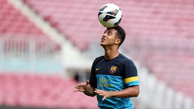 Thiago at the Camp Nou / PHOTO: MIGUEL RUIZ-FCB
