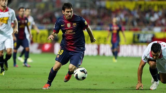 Messi vs Sevilla FC / PHOTO: MIGUEL PUIZ - FCB