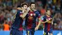 Messi i Villa celebren un gol / FOTO: ARXIU FCB