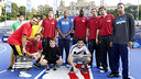 The Barça Regal players at the Fan Zone on Maria Cristina Avenue / PHOTO: MIGUEL RUIZ - FCB
