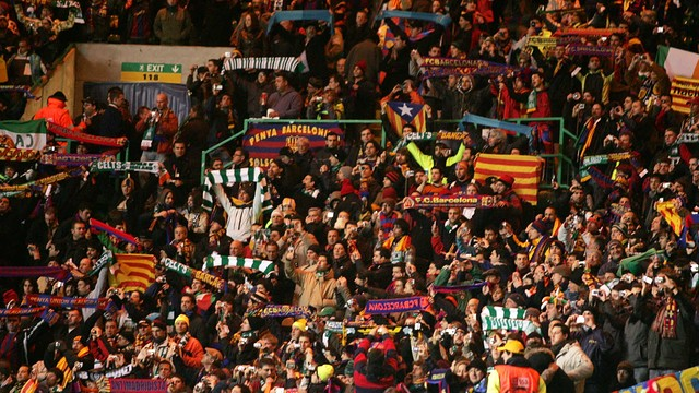Barça Fans at Celtic Park / PHOTO: MIGUEL RUIZ-FCB.