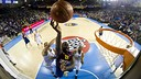 Jawai, contra el Brose Baskets. FOTO: ÀLEX CAPARRÓS-FCB.