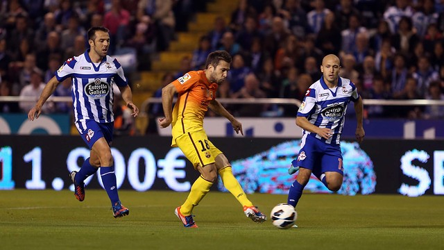 Alba at the Riazor / PHOTO: MIGUEL RUIZ - FCB