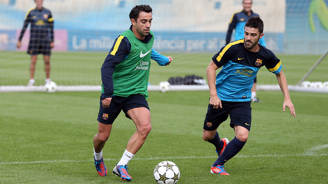 The players prepare for the match against Celtic FC / PHOTO: MIGUEL RUIZ - FCB