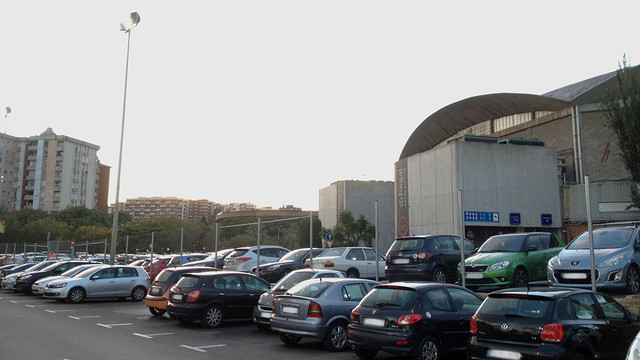 Parking area behind the Palau Blaugrana | PHOTO: FCB 