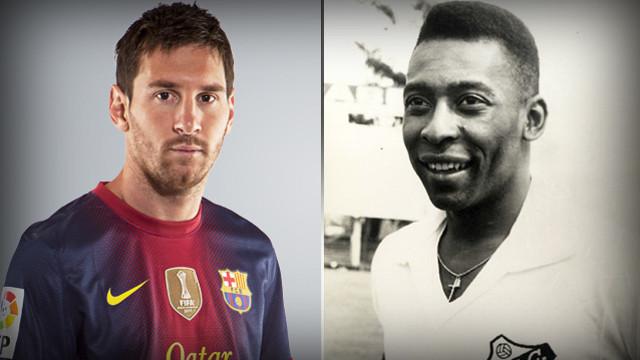 Messi, autor de 76 goles en 2012, ha superado los 75 de Pelé en 1958