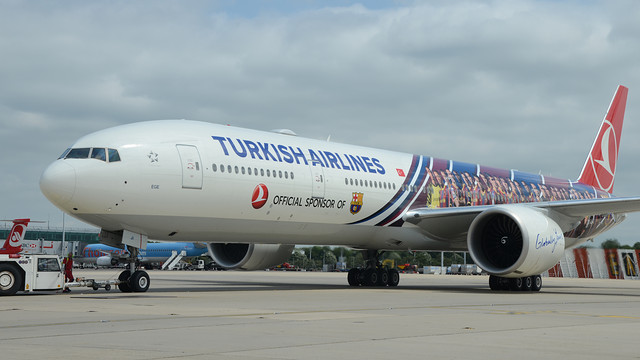 Avió de Turkish Airlines. FOTO: MIGUEL RUIZ-FCB.