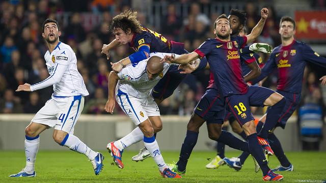 Carles Puyol and Jordi Alba / PHOTO: ÀLEX CAPARRÓS - FCB