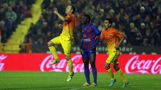 The 7th consecutive victory against Levante (0-4) / PHOTO: MIGUEL RUIZ-FCB