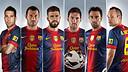 Sis jugadors del FC Barcelona opten a l'Equip de l'Any de uefa.com