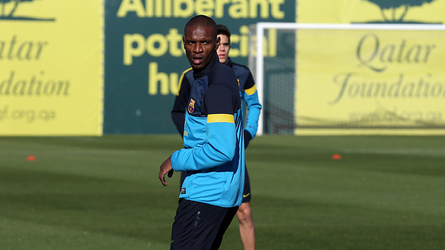 Abidal in a training session / FOTO: ARXIU FCB