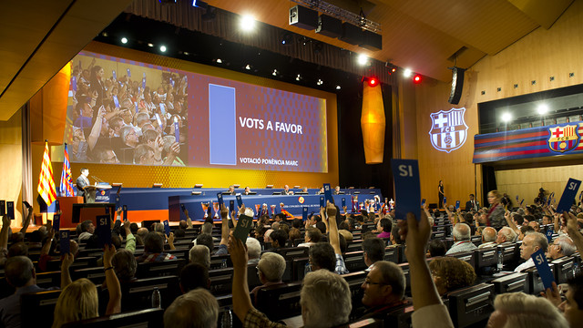 Keynote Address Voting during the XXXIII World Supporters' Clubs Congress