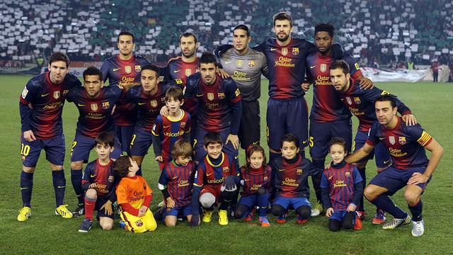 L'alineació del Barça a Còrdova. FOTO: MIGUEL RUIZ-FCB.