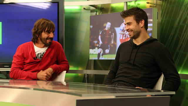 Piqu on Bara TV. PHOTO: MIGUEL RUIZ - FCB