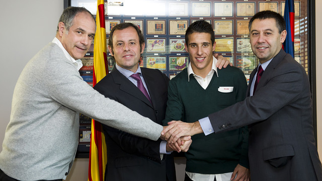 Zubizarreta, Rosell, Tello and Bartomeu / PHOTO: LEX CAPARRS-FCB