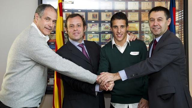 Zubizarreta, Rosell, Tello and Bartomeu / PHOTO: ÁLEX CAPARRÓS-FCB