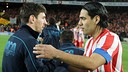Falcao and Messi at Camp Nou PHOTO: MIGUEL RUIZ - FCB
